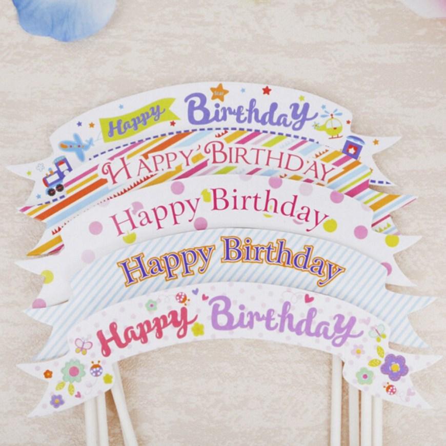Happy Birthday Cake Banner Happy Birthday Cake Topper Banner Flagge Cupcake Kuchen Flaggen Ba