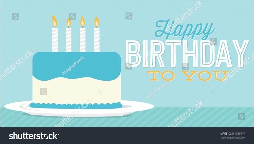 Happy Birthday Cake Banner Happy Birthday You Birthday Cake Banner Stock Vector Royalty Free