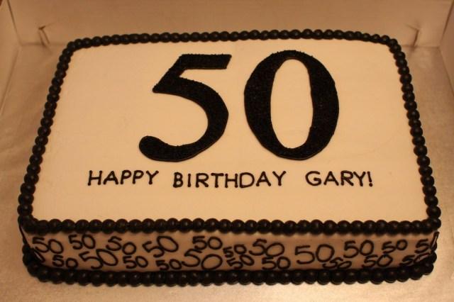 Happy Birthday Cake For Men 50th Birthday Cake The Buttercream Bakery 50th Birthday Sheet
