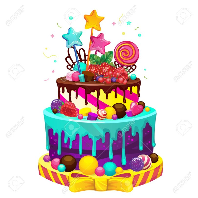 Happy Birthday Cake Images Happy Birthday Cake Bright Vector Isolated Illustration Of A