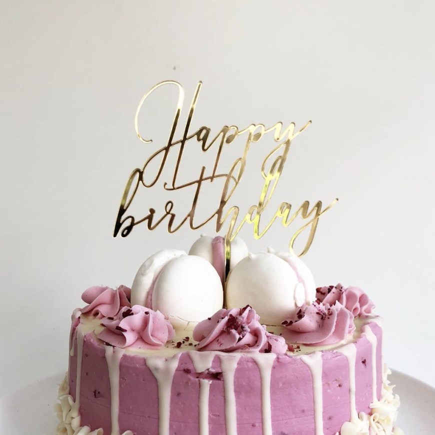 Happy Birthday Cake Pic Happy Birthday Cake Topper Heres To Us Notonthehighstreet