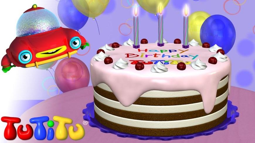Happy Birthday Cake Pic Tutitu Toys Happy Birthday Cake Youtube