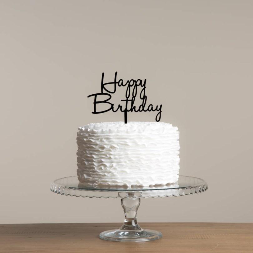 Happy Birthday Cake Topper Happy Birthday Cake Topper Decoration Set Funky Laser