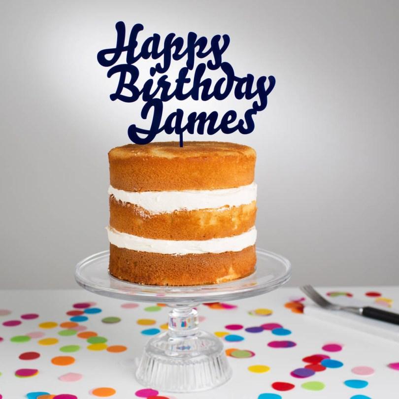 Happy Birthday Cake Topper Personalised Happy Birthday Cake Topper Twenty Seven