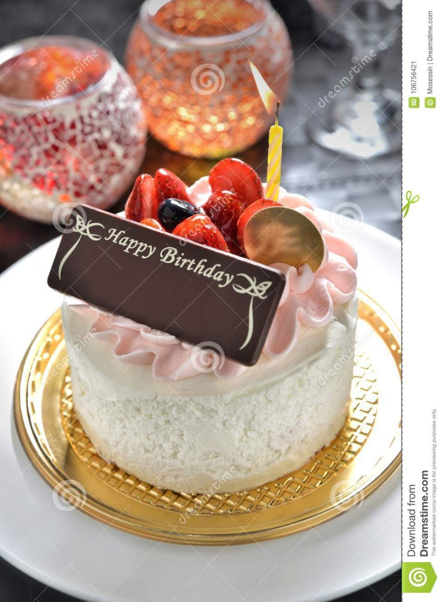 Happy Birthday Cake With Name Birthday Cake With Name Tag Stock Image Image Of Chocolate Cheer