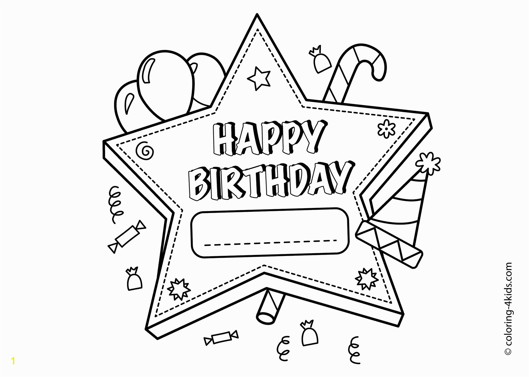 Happy Birthday Coloring Page Birthday Coloring Pages For ...