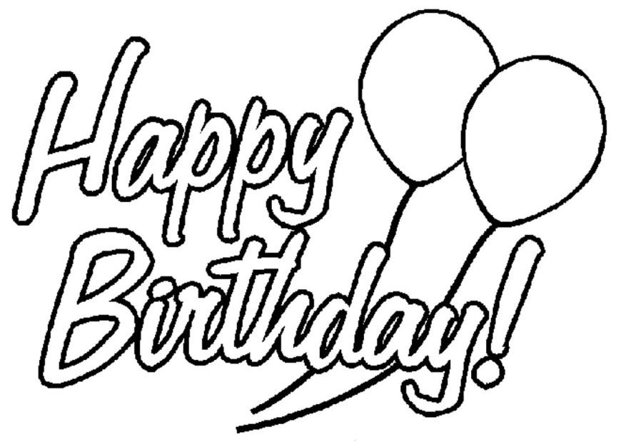 Happy Birthday Coloring Page Download Happy Birthday Coloring Pages Fascinating For Kids