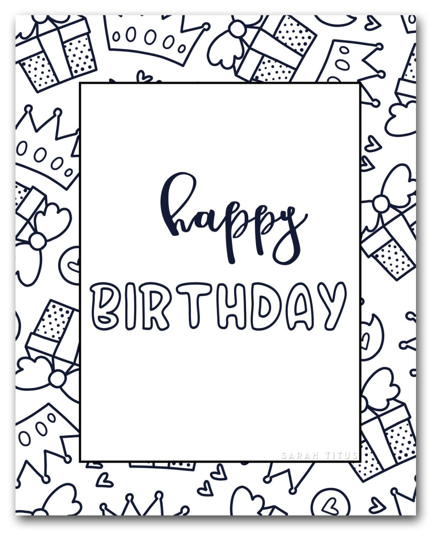 Happy Birthday Coloring Page Free Printable Happy Birthday Coloring Sheets Sarah Titus