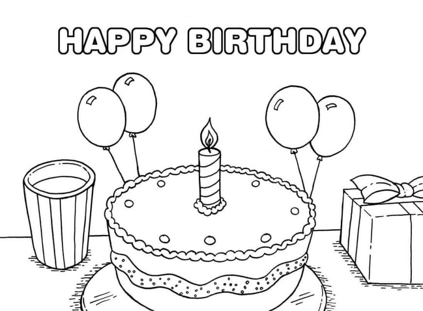 Happy Birthday Coloring Page Happy Birthday Coloring Pages Printable Sahmbargainhunter Ganzes