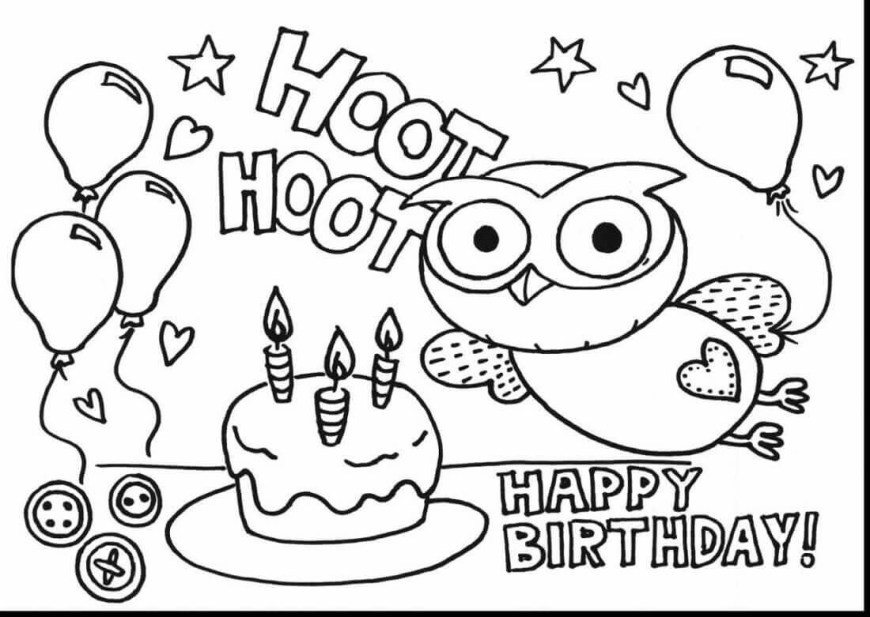 Happy Birthday Coloring Page Pre K Coloring Sheets Beautiful 25 Free Printable Happy Birthday