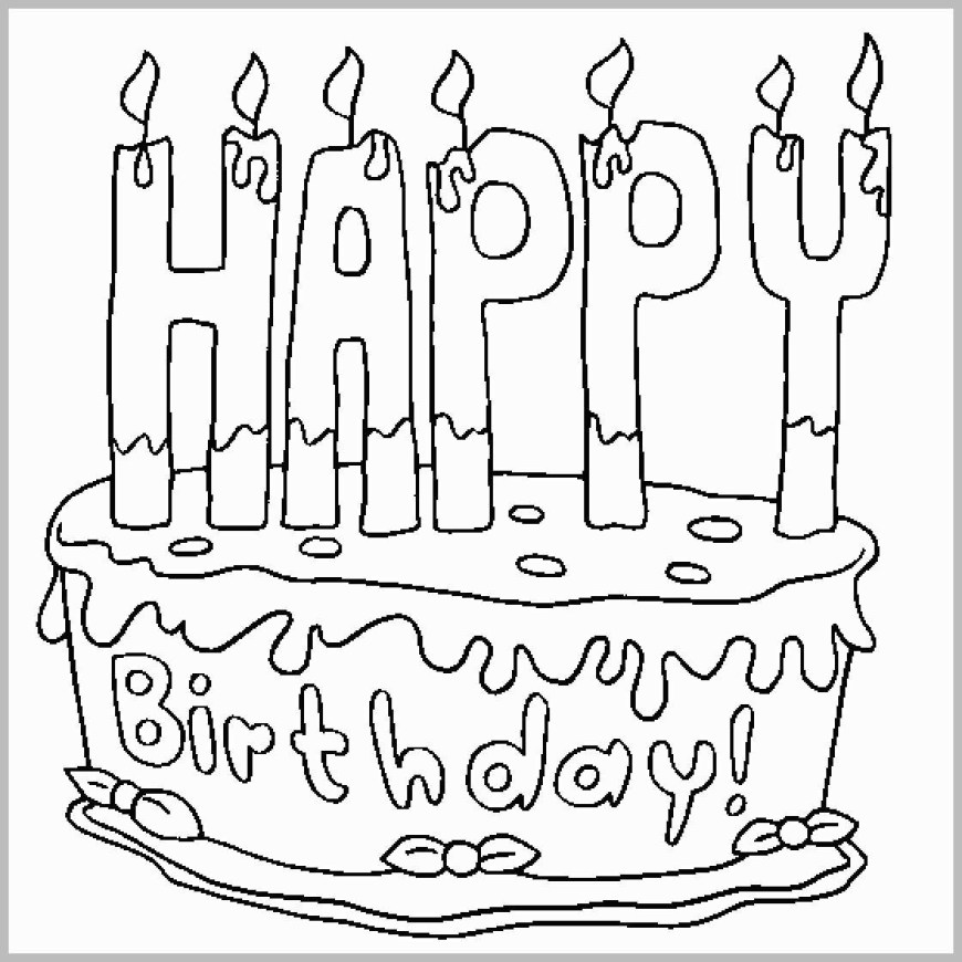 Happy Birthday Coloring Page Printable Birthday Coloring Pages Lovely Colour Drawing Free