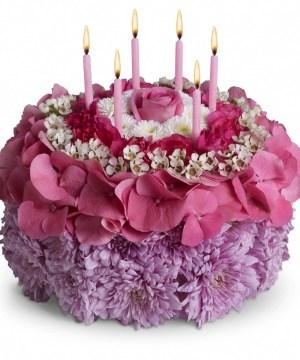 Happy Birthday Flower Cake Top 25 Most Beautiful Smash Cakes Arrangements Pinterest