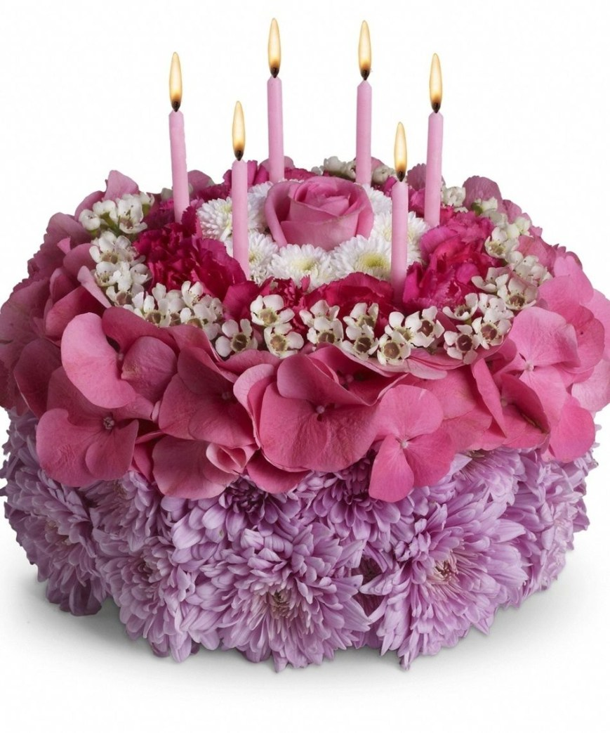 Happy Birthday Flower Cake Top 25 Most Beautiful Smash Cakes Arrangements Pinterest