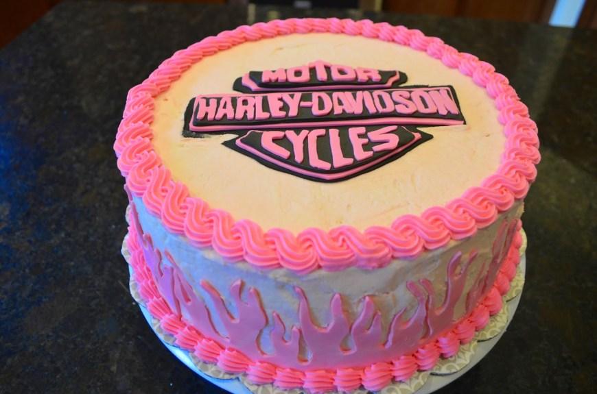 Harley Davidson Birthday Cakes 13 Pink Harley Cakes Photo Pink Harley Davidson Birthday Cake