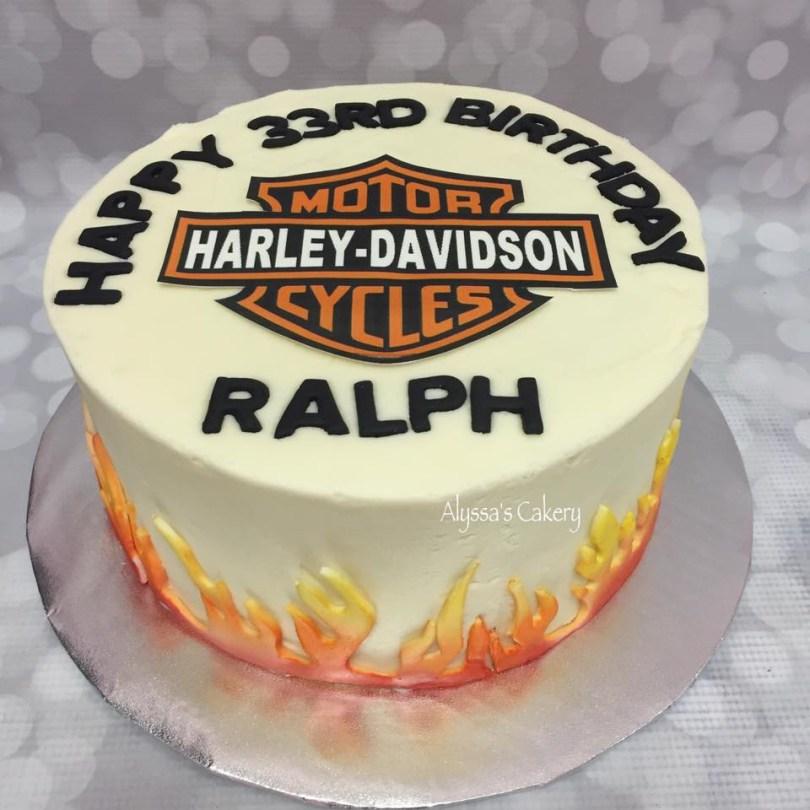 Harley Davidson Birthday Cakes Harley Davidson Birthday Cake Alyssas Cakery