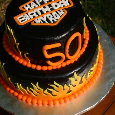 Harley Davidson Birthday Cakes Harley Davidson Birthday Logo Cake 50th Birthday Party Ideas