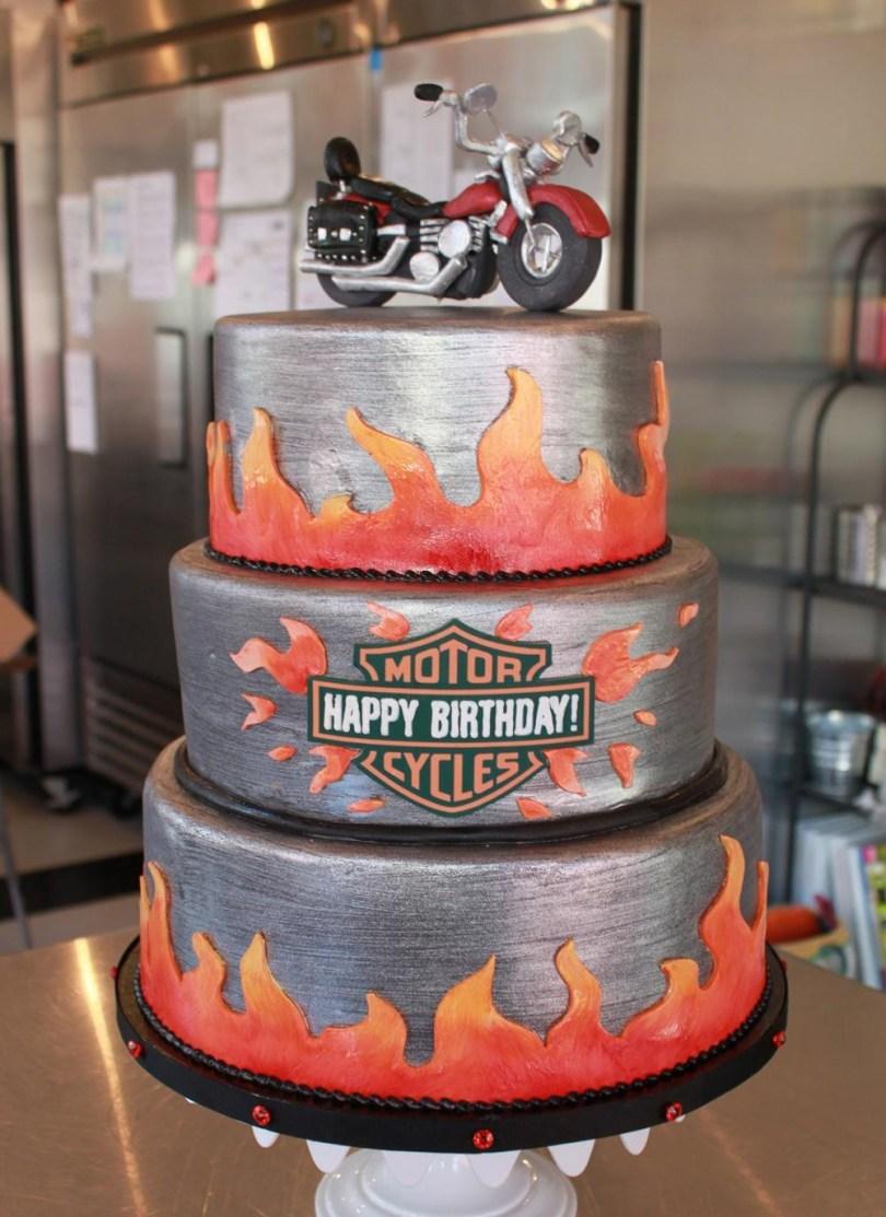Harley Davidson Birthday Cakes Rousing Harley Davidson Cake Decorations Harley Davidson Cake