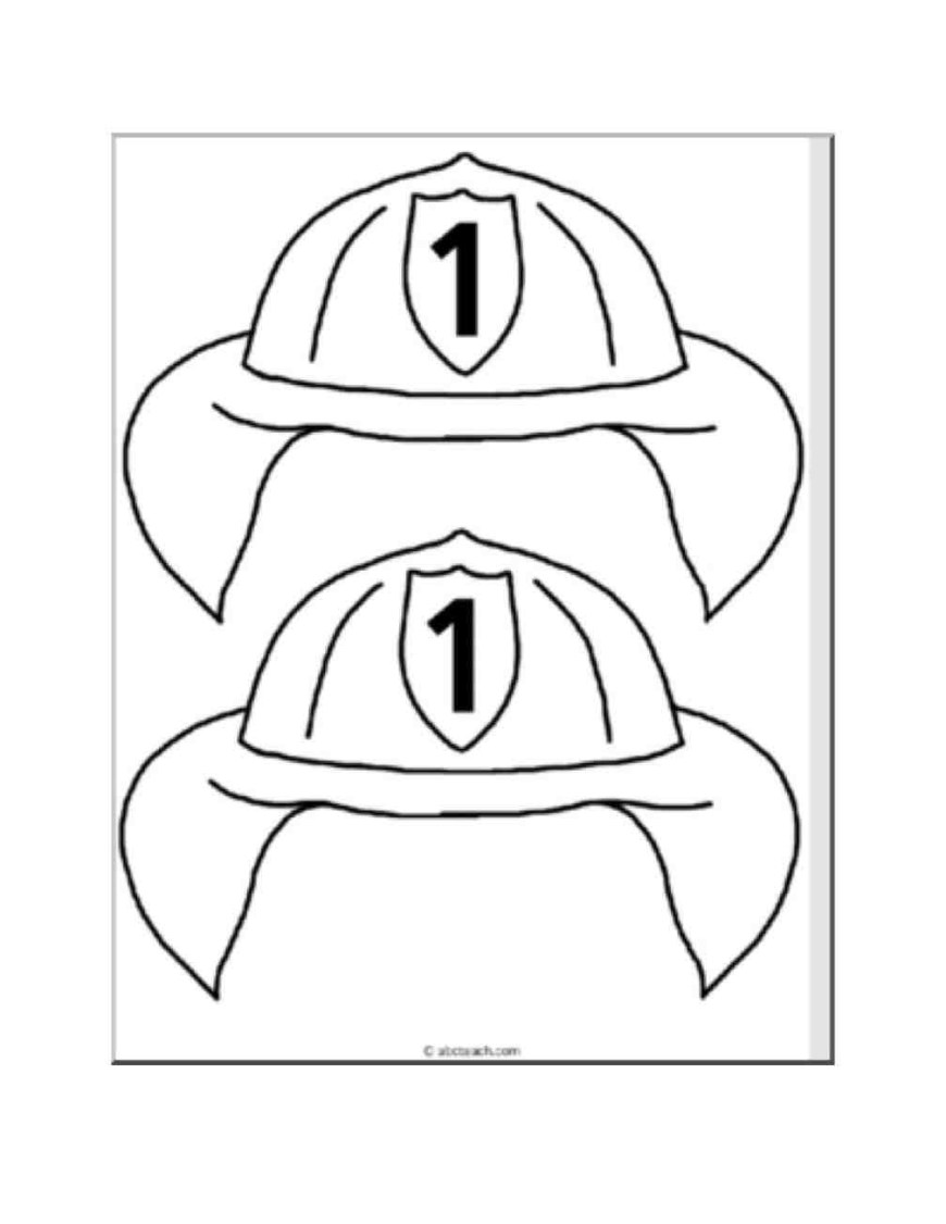 Hat Coloring Page Fireman Hat Coloring Page Coloring Book