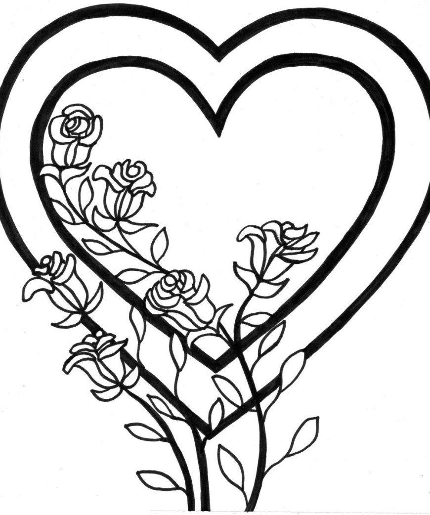 Heart Coloring Page Heart Coloring Pages To Print Out At Getdrawings Free For