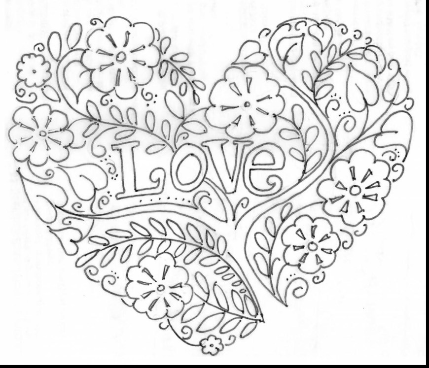 Hearts Coloring Pages Heart Zentangle Coloring Page Within Heart Coloring Pages For Adults