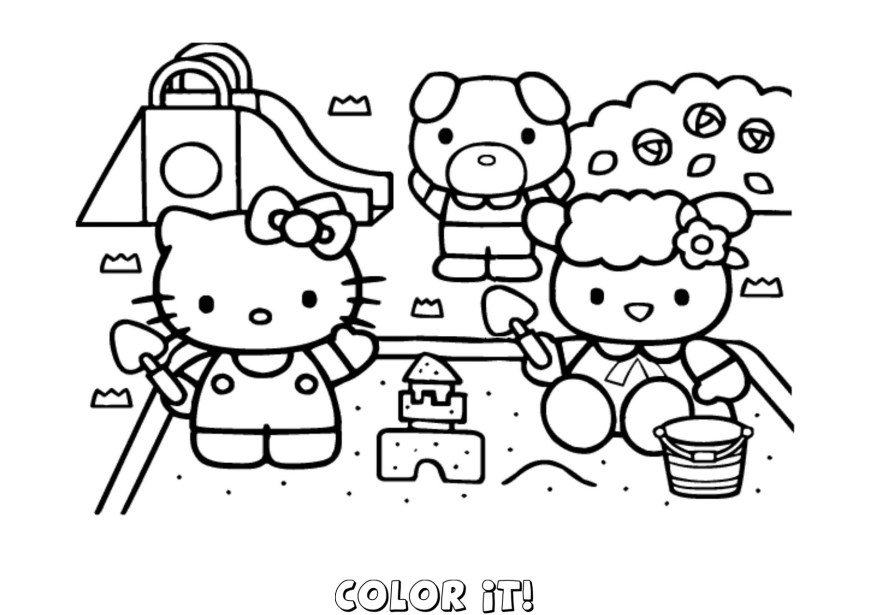 Hello Kitty Color Pages Free Hello Kitty Coloring Pages Printable Books Throughout Pdf