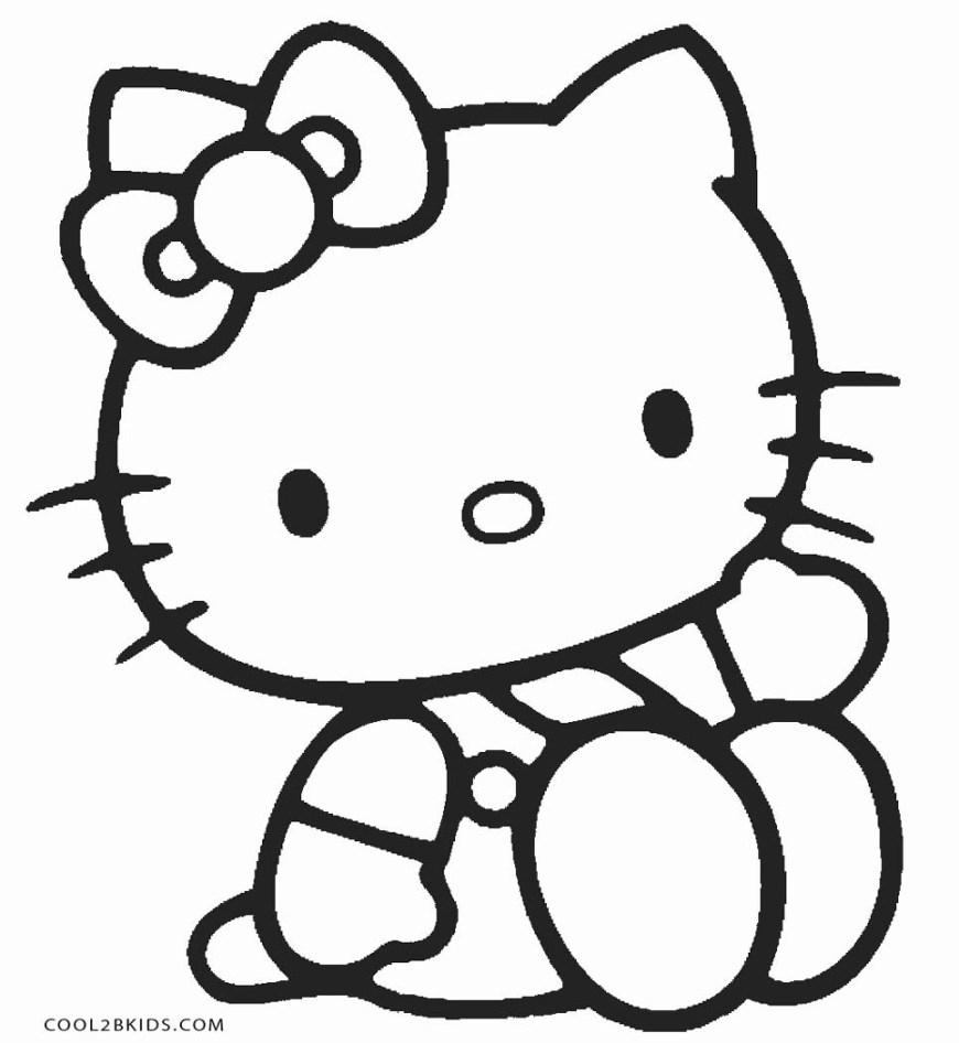 Hello Kitty Color Pages Free Printable Hello Kitty Coloring Pages For Pages Cool2bkids