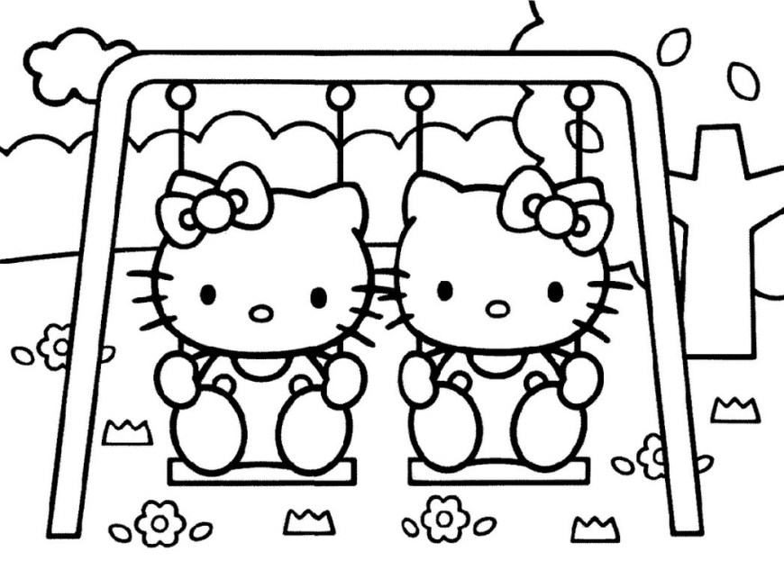Hello Kitty Color Pages Hello Kitty Coloring Pages Pdf Archives For New Page Of Rallytv Org