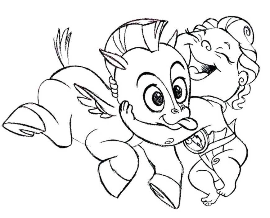 Hercules Coloring Pages Ba Pegasus Coloring Pages At Getdrawings Free For Personal