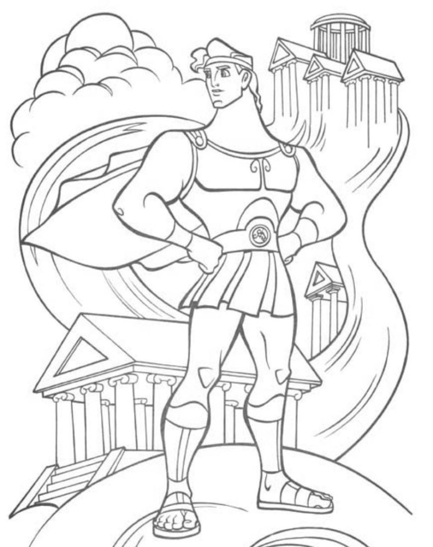 Hercules Coloring Pages Printable Hercules Coloring Pages Coloring Me Coloring Home