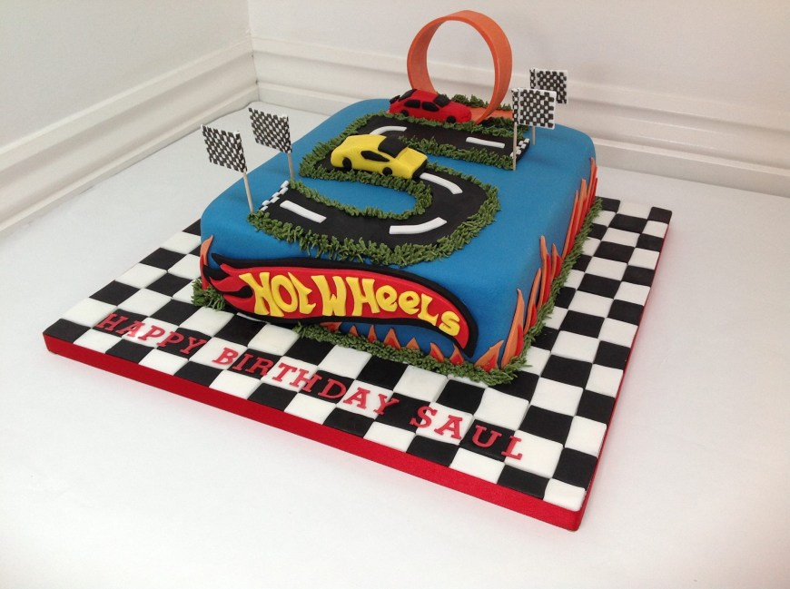 Hot Wheels Birthday Cake A Hotwheels Cars Birthday Cake Fancy Fondant Kid Party