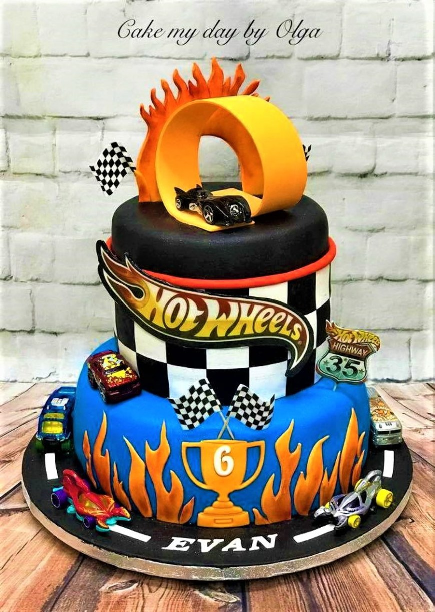 Hot Wheels Birthday Cake Hot Wheels Birthday Cake Cakecentral