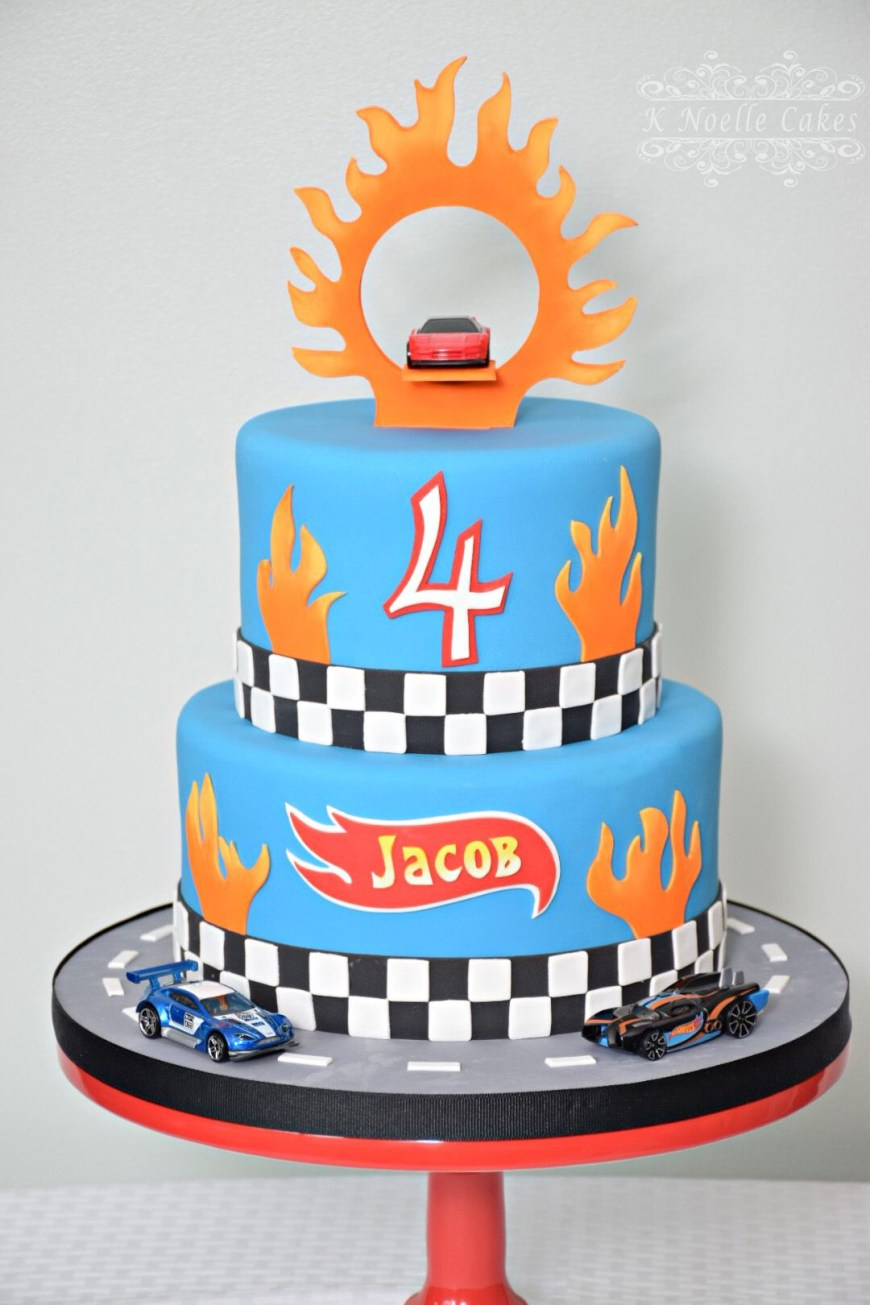 Hot Wheels Birthday Cake Hot Wheels Theme Birthday Cake K Noelle Cakes Cakes K