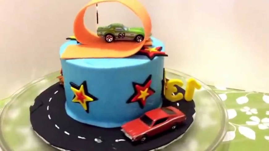 Hot Wheels Birthday Cake My Hot Wheels Birthday Cake Youtube