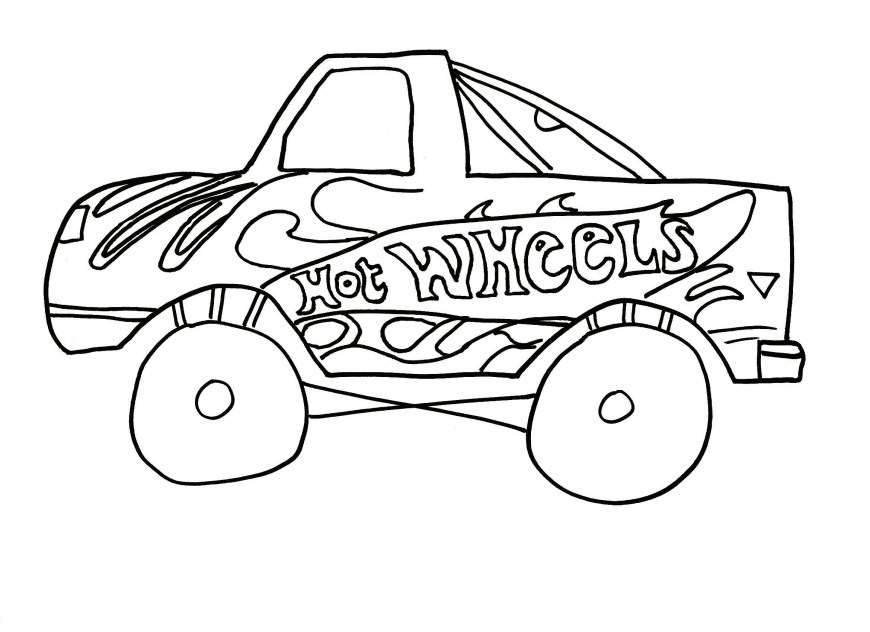 Hot Wheels Coloring Pages Free Printable Hot Wheels Coloring Pages For Kids