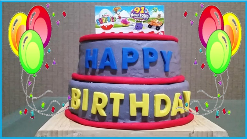Huge Birthday Cake Huge Birthday Play Doh Cake Surprise Toys Disney Shopkin Hello Kitty