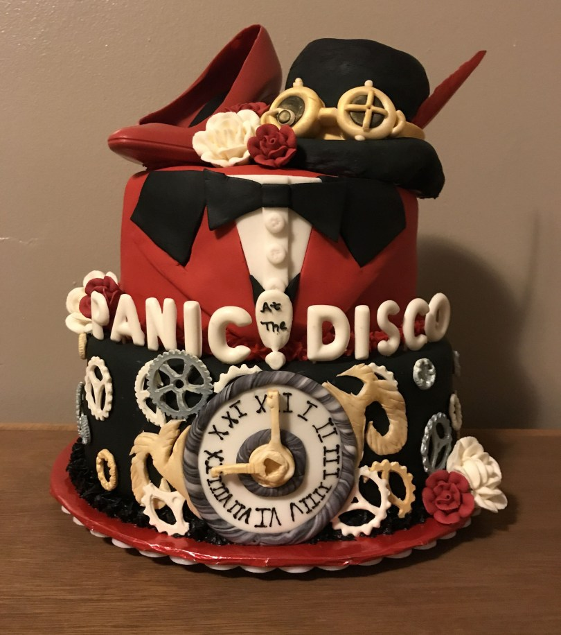 Huge Birthday Cake Panic At The Disco Cake Made For My Daughters 13 Birthday Shes A