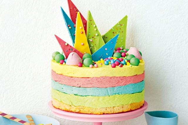 Ice Cream Birthday Cake Rainbow Ice Cream And Jelly Cake