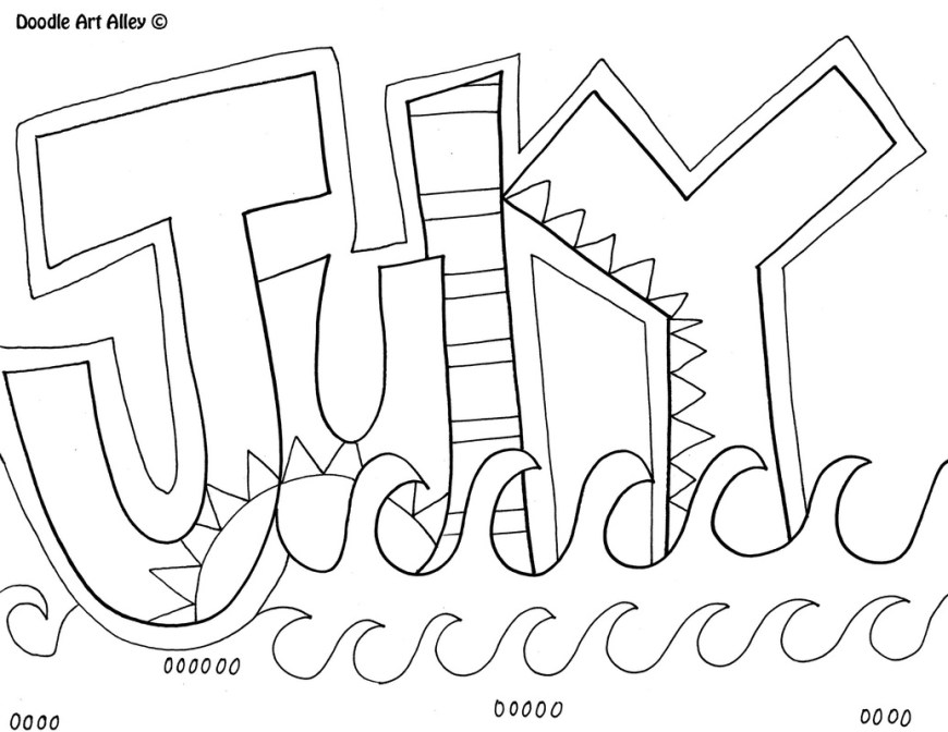 June Coloring Pages Months Of The Year Coloring Pages Classroom Doodles