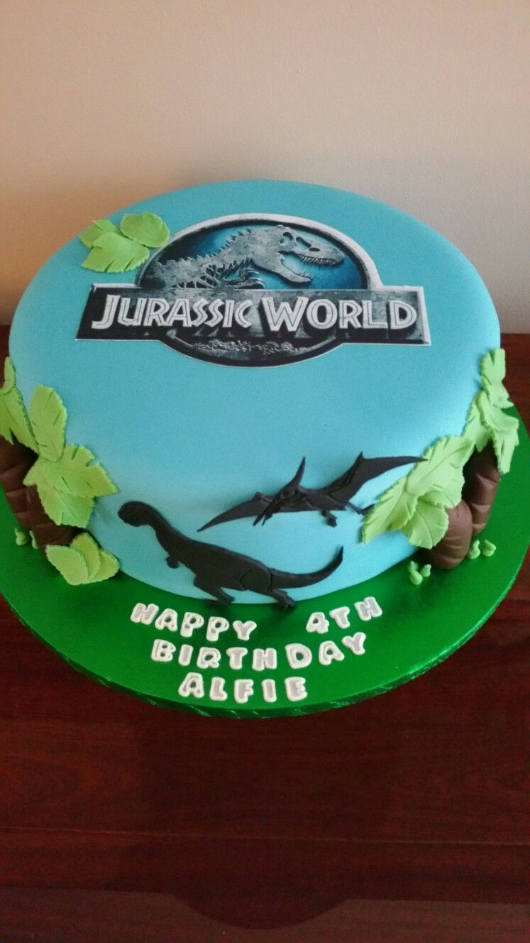 Jurassic Park Birthday Cake Jurassic Park Themed Birthday Cake Toppers Cakes And Cupcakes