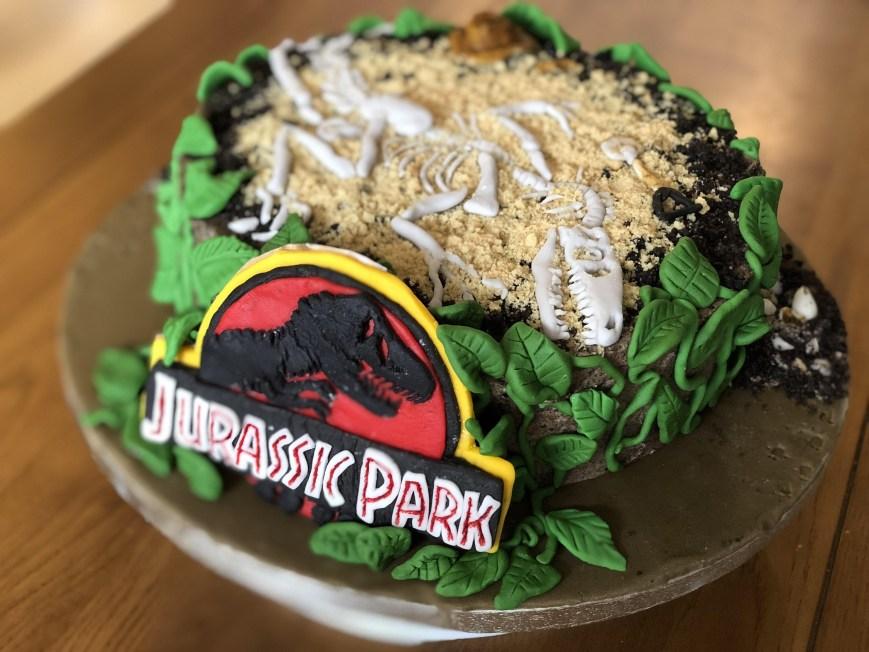 Jurassic Park Birthday Cake My 25th Birthday Cake Made Courtesy Of My Girlfriends Sister