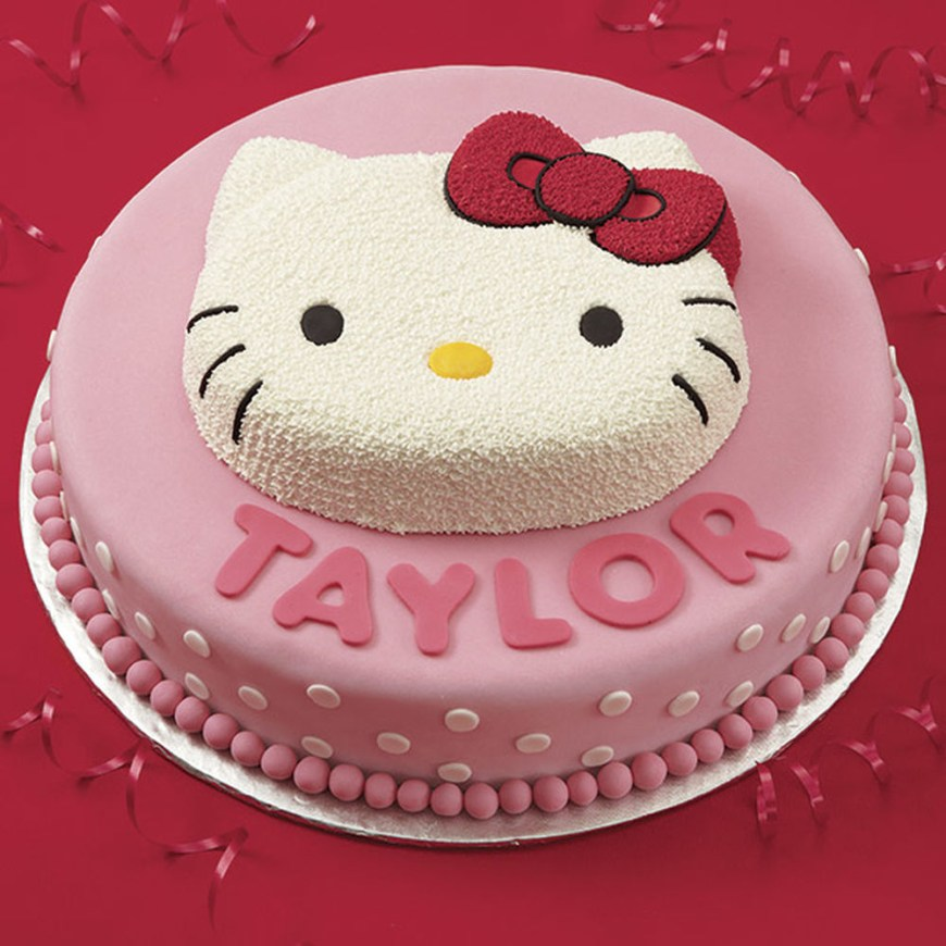 Kitty Birthday Cake Birthday Cake Hello Kitty Buttercream Hello Kitty Birthday Cake