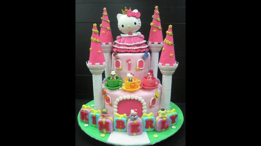 Kitty Birthday Cake Hello Kitty Birthday Cake Youtube