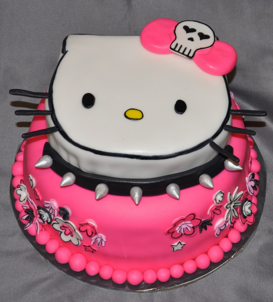 Kitty Birthday Cake Hello Kitty Cakes Decoration Ideas Little Birthday Cakes