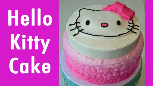 Kitty Birthday Cake How To Make A Hello Kitty Birthday Cake With Jill Youtube