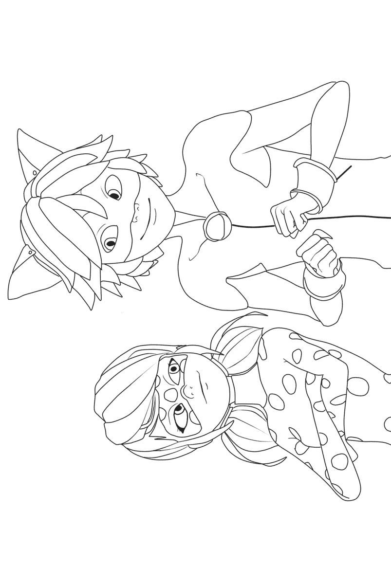 Ladybug And Cat Noir Coloring Pages Cat Noir Coloring Page At Getdrawings Free For Personal Use