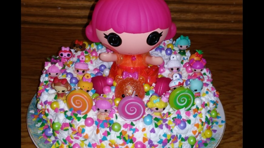 Lalaloopsy Birthday Cake Lalaloopsy Birthday Cake And Cupcakes Youtube