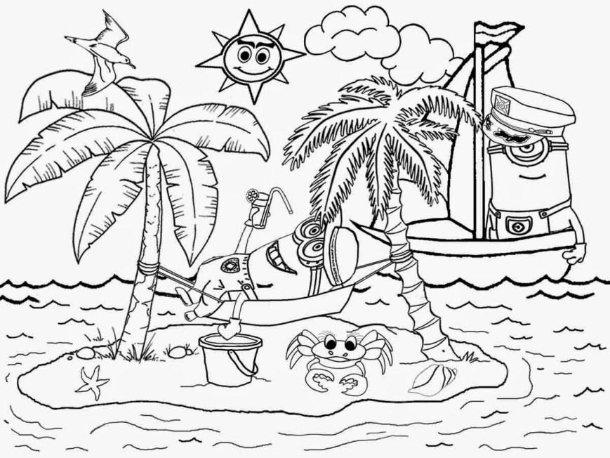 Landscape Coloring Pages Beach Landscape Coloring Pages Coloringsuite