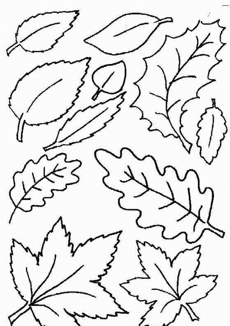 Leaf Coloring Pages Autumn Leaves Coloring Pages Coloring Pages Of Leaves Printable