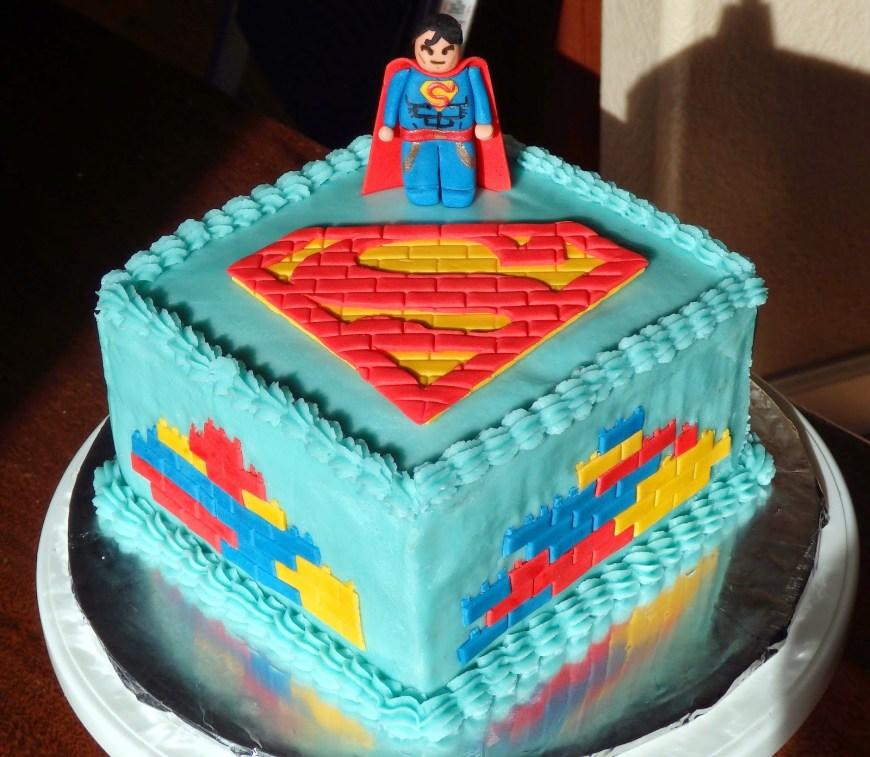 Lego Birthday Cake Cakes D Superman Lego Birthday Cake