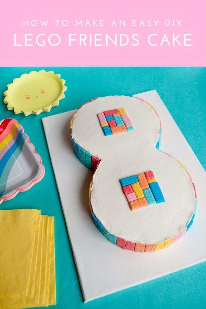 Lego Birthday Cake Easy Lego Friends Cake Idea For Girls Merriment Design